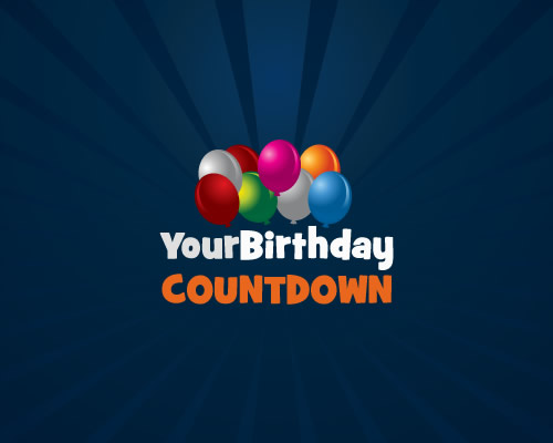 Birthday Countdown Clock Count Down To Your Next Birthday